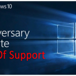 Windows 10 1607 end of support